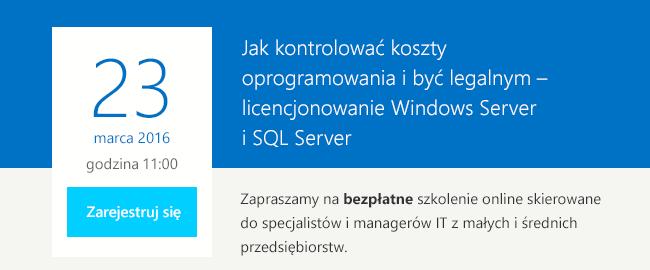 Szkolenie Microsoft SQL Server