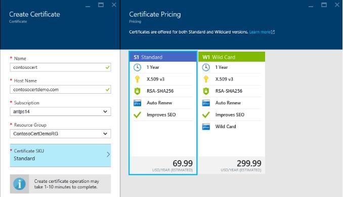 Certyfikaty SSL Azure