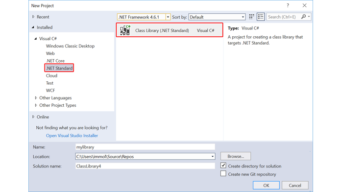windows 10 .NET Standard 2.0
